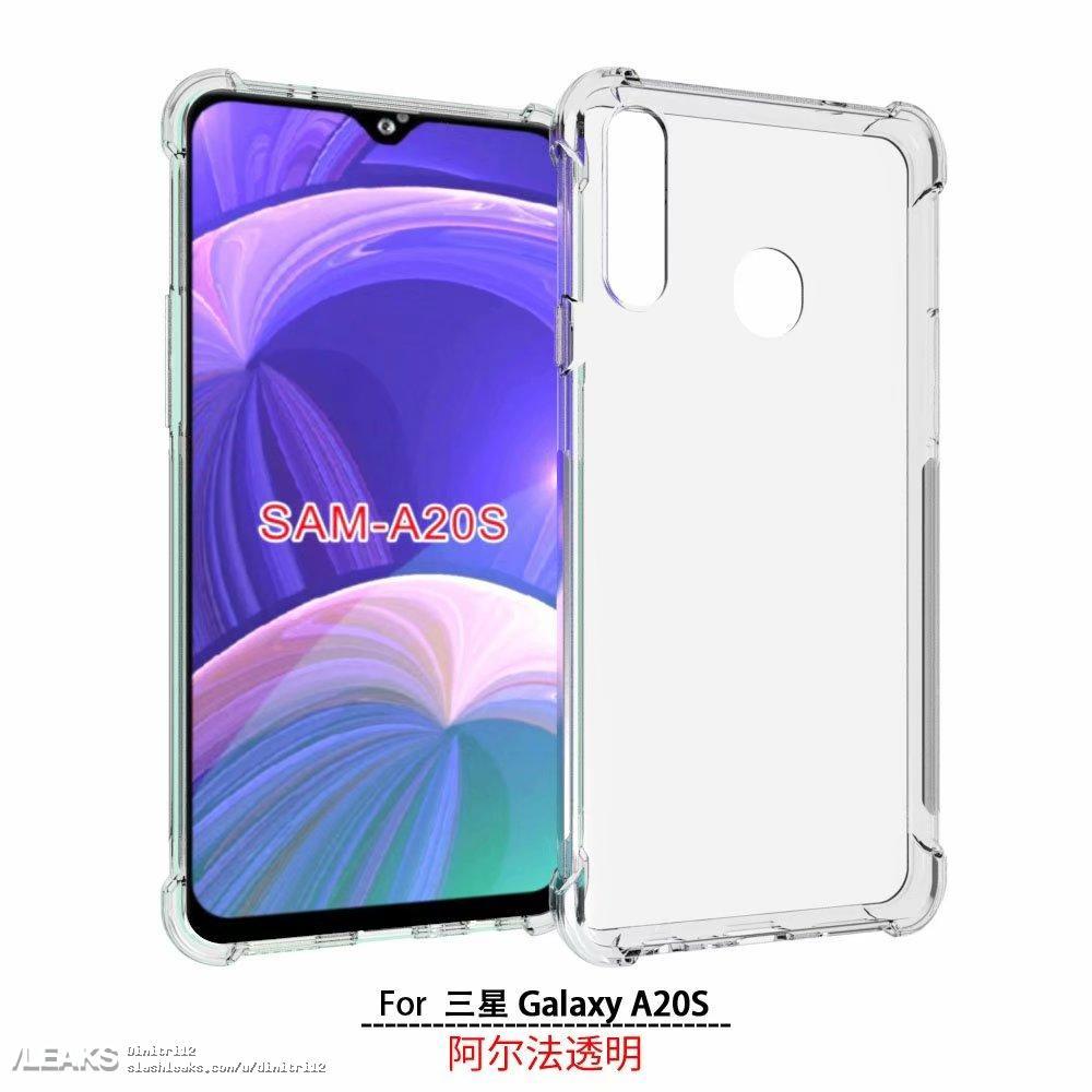 Samsung Galaxy A20s rendered by case maker « SLASHLEAKS
