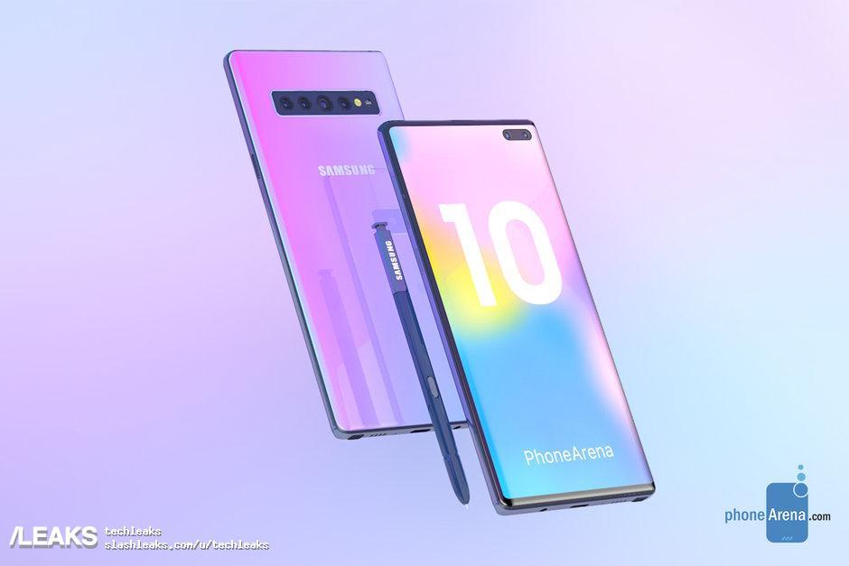 img Samsung Galaxy Note 10 Renders by PhoneArena