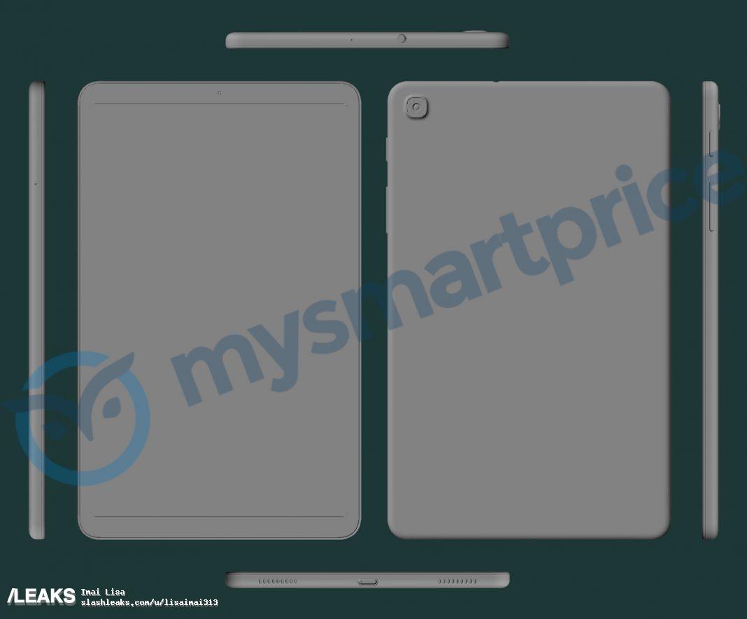 img Samsung Galaxy Tab A 2021 8.4 inch cad render