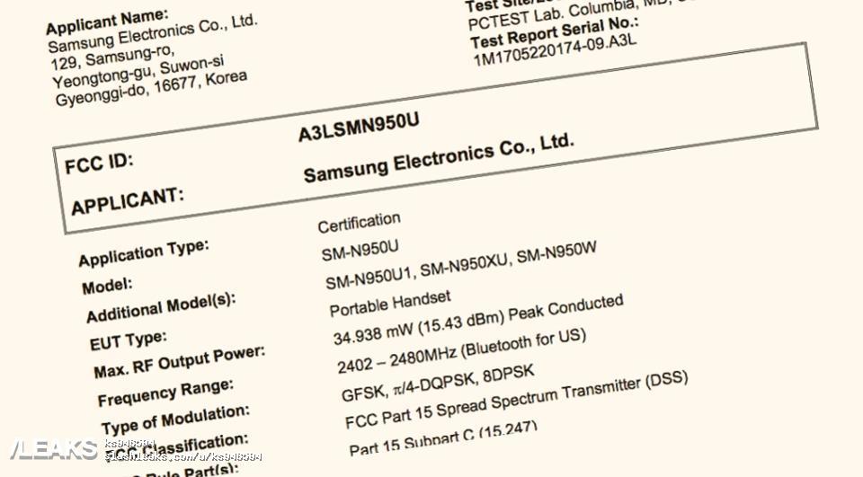 img Leaked Samsung Note 8 Documentation
