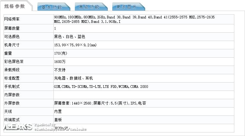 img HTC U11 Plus full specs (TENAA)