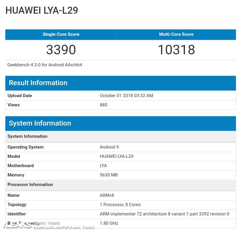 img Huawei Mate 20 Kirin 980 hits Geekbench