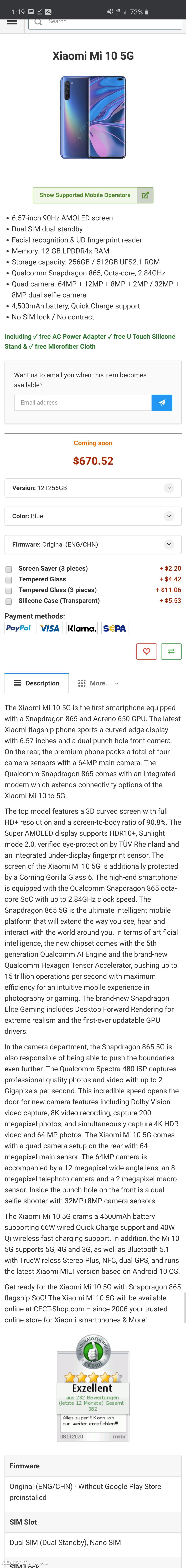img Xiaomi Mi 10 Full Specs