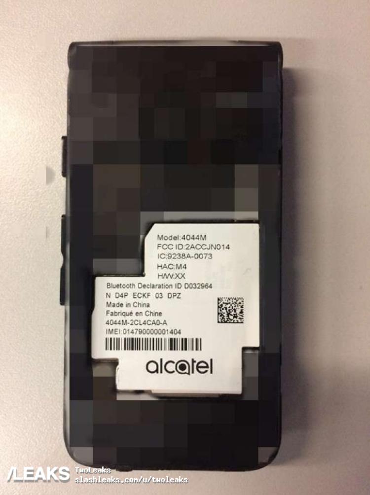 img Alcatel 4044M prototype picture revelaed by FCC [UPDATED: Go Flip]