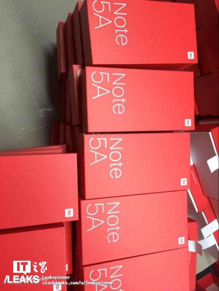 img Xiaomi Redmi Note 5A retail box leaked