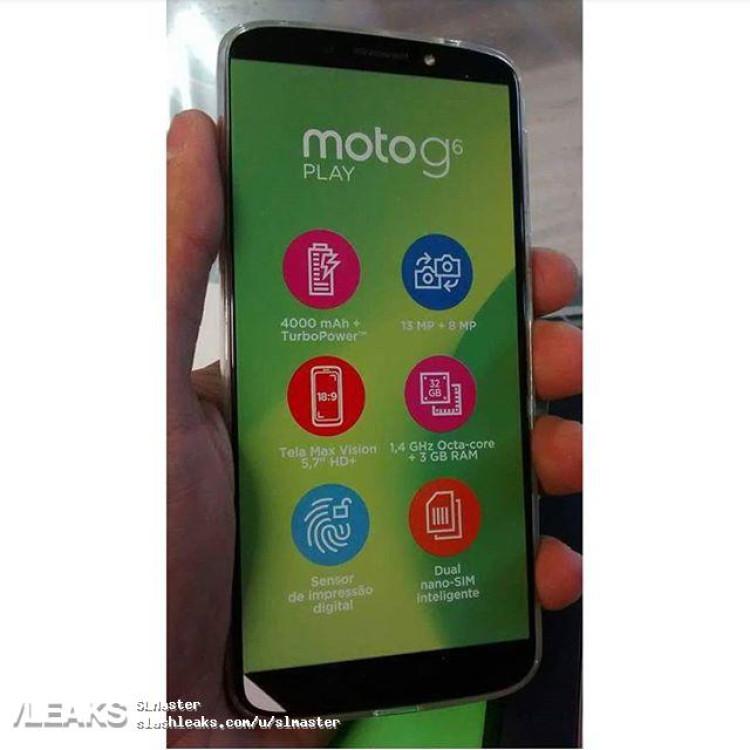 img Moto g6play leak