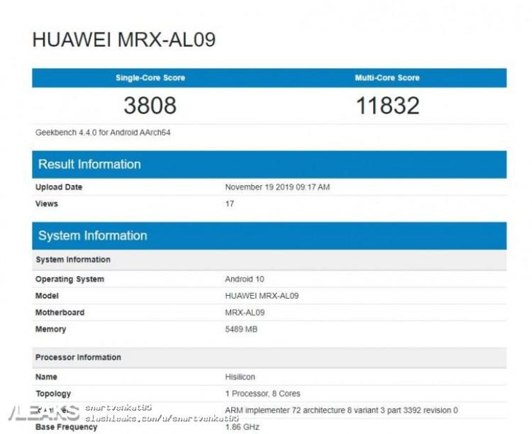 img Huawei MatePad Pro 6GB RAM, Android 10 Geekbench