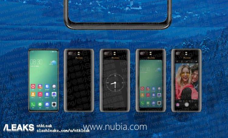 img ZTE Nubia Z18S dual screen leak again