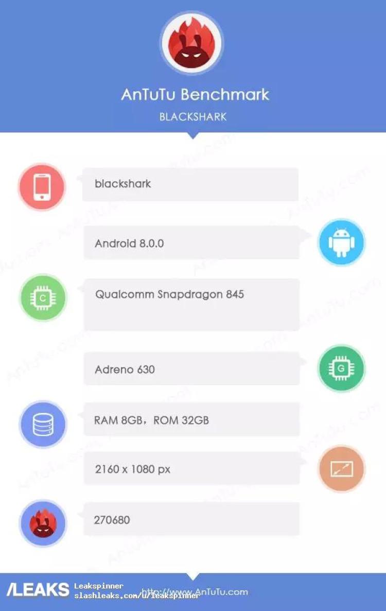 img Possible Xiaomi Blackshark gaming phone specs leaked by AnTuTu