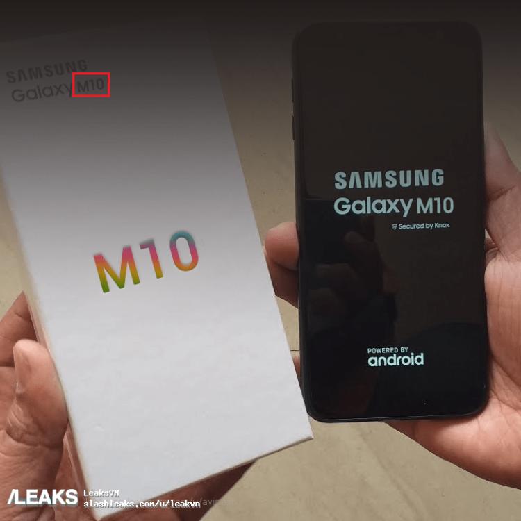 img Alleged Samsung Galaxy M10 photo and retail box leak