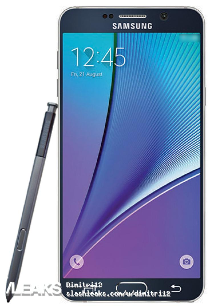 img Galaxy Note 5 Press Render leaked by evleaks