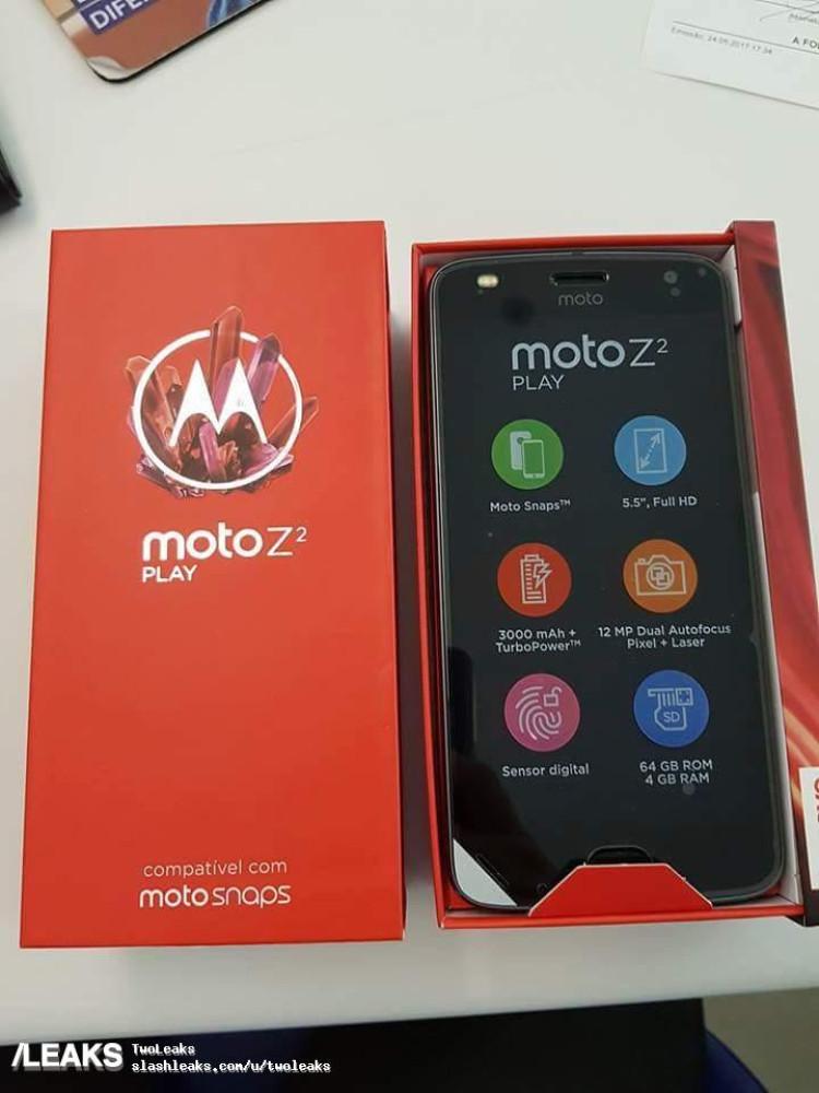 img Moto Z2 Play leaks yet again