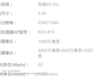 Honor 9X & 9X Pro specs