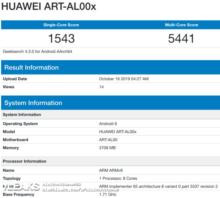 img Huawei ART-AL00x (Enjoy 10) Geekbench