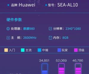 Huawei Nova 5 Pro Kirin 980, 2340x1080 Pixels, 2600MHz, 8GB RAM Benchmarked