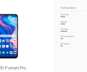 Huawei P Smart Pro showed up