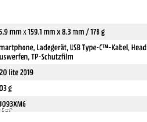 Huawei P20 Lite 2019 price (Nova 5i)
