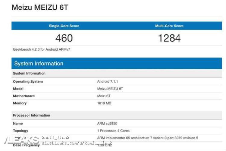 img Meizu M6T in Geekbench