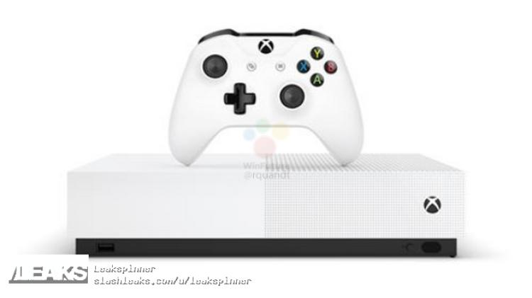 img Microsoft Xbox One S All Digital leaks in full
