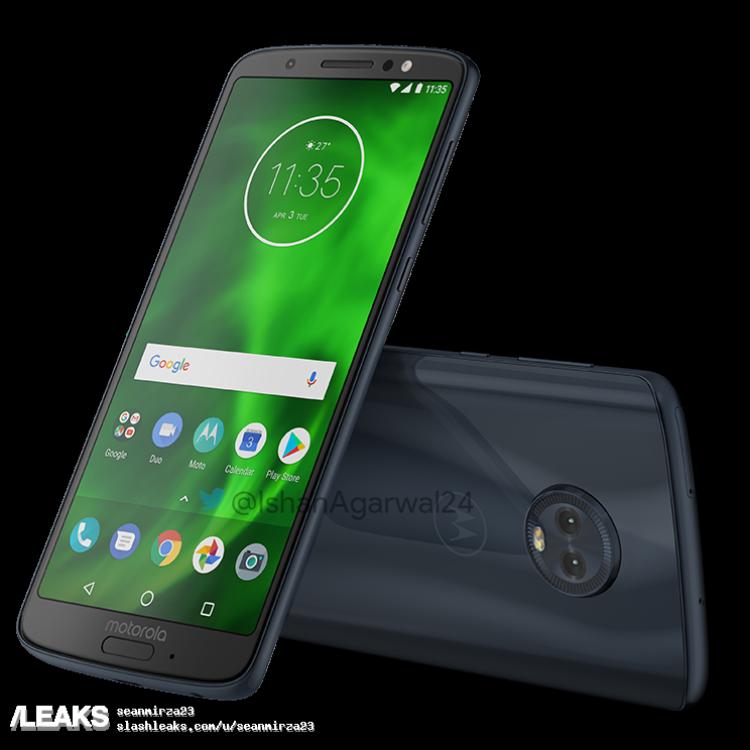img Moto G6 full family renders leaked