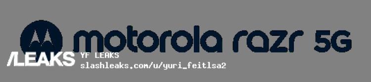 img Motorola Razr 5G logo and front render leaks