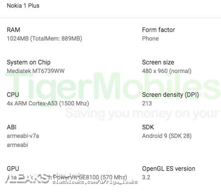 img Nokia 1 plus render and key specs leaked