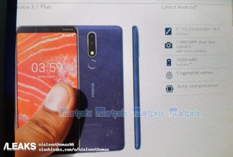 img Nokia 3.1 Plus Retail Box Image & Specs Leaked