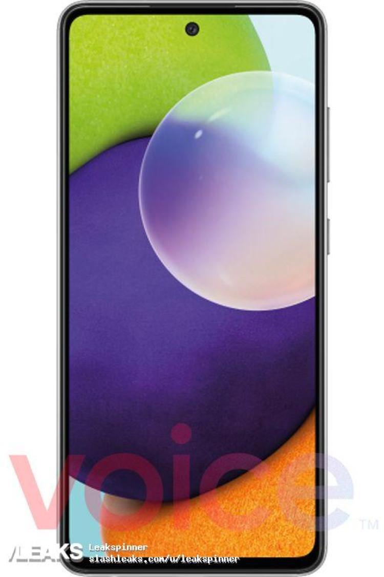 img Samsung Galaxy A72 5G press render leaked by @evleaks
