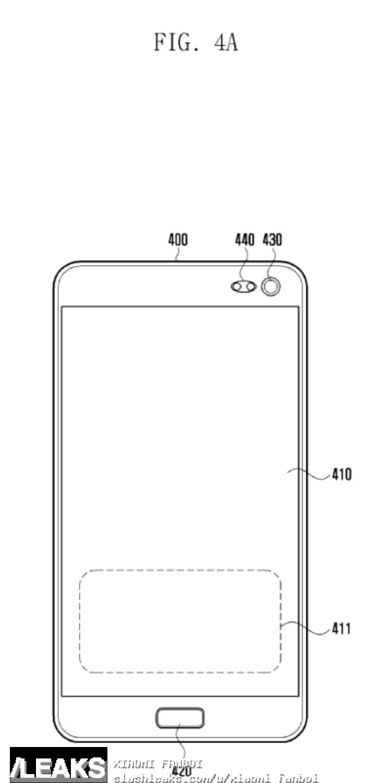 img Samsung in-display fingerprint scanner patent leaked