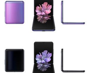 [UnWatermarked] Galaxy Z Flip Black and Purple Colour Renders Via Ishan Agarwal