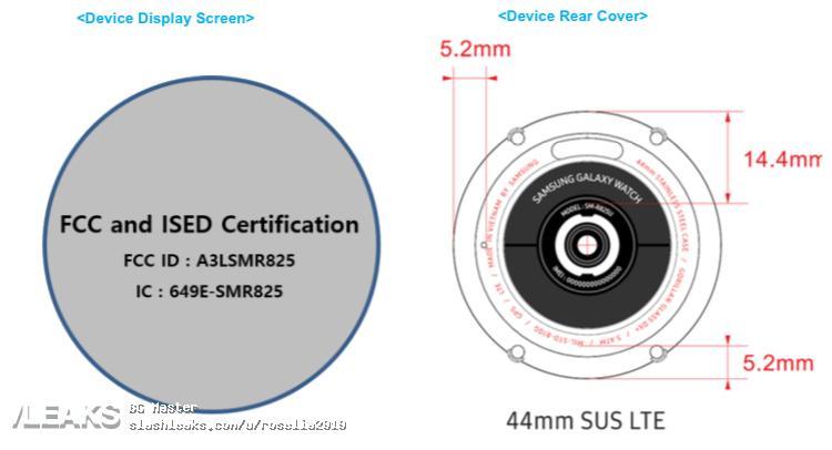 img Unknown Samsung Galaxy Watch (SMR825) Fccid Label Leaks