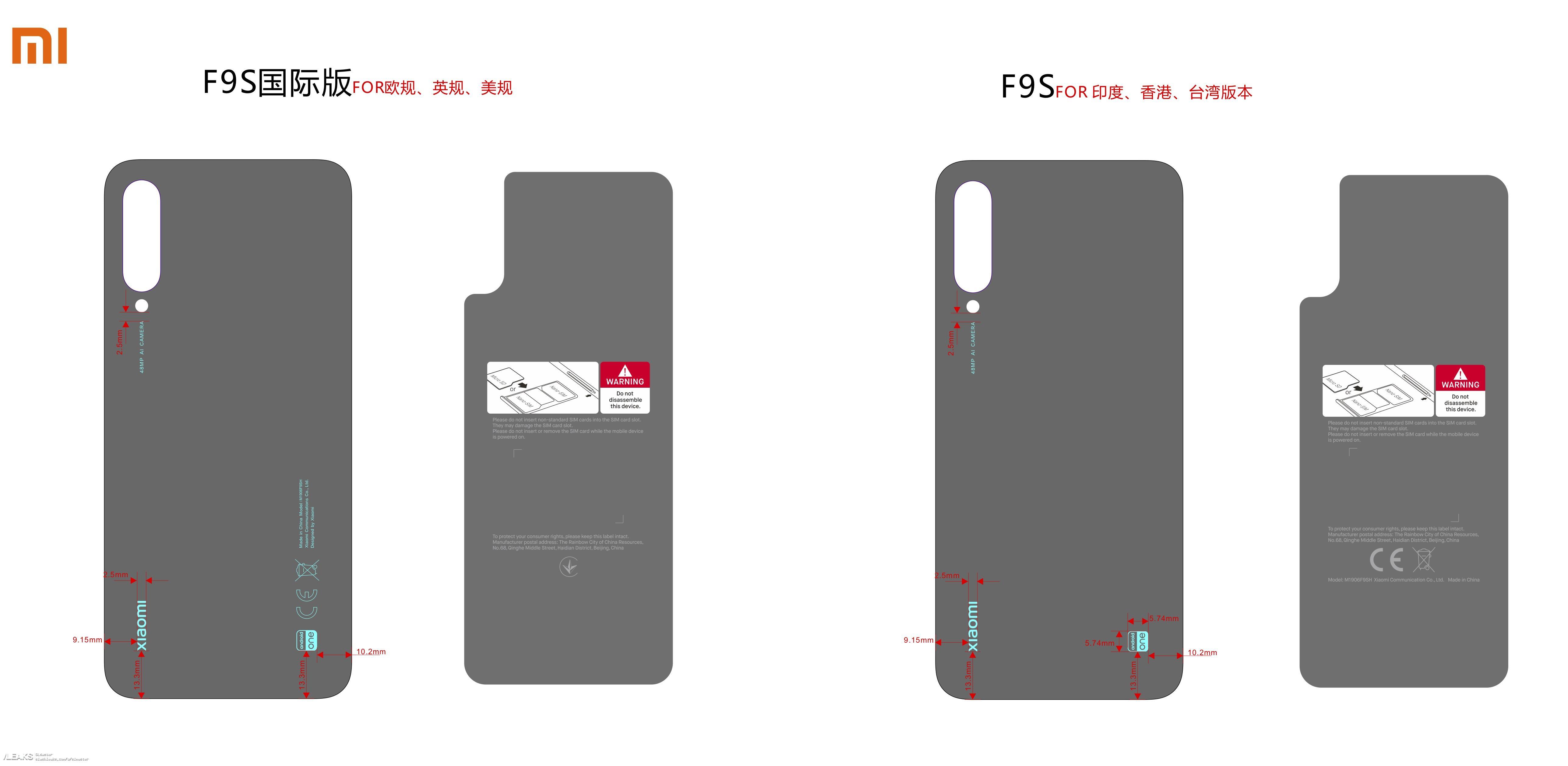 img Xiaomi A3 /A3 Lite in FCC Leaks