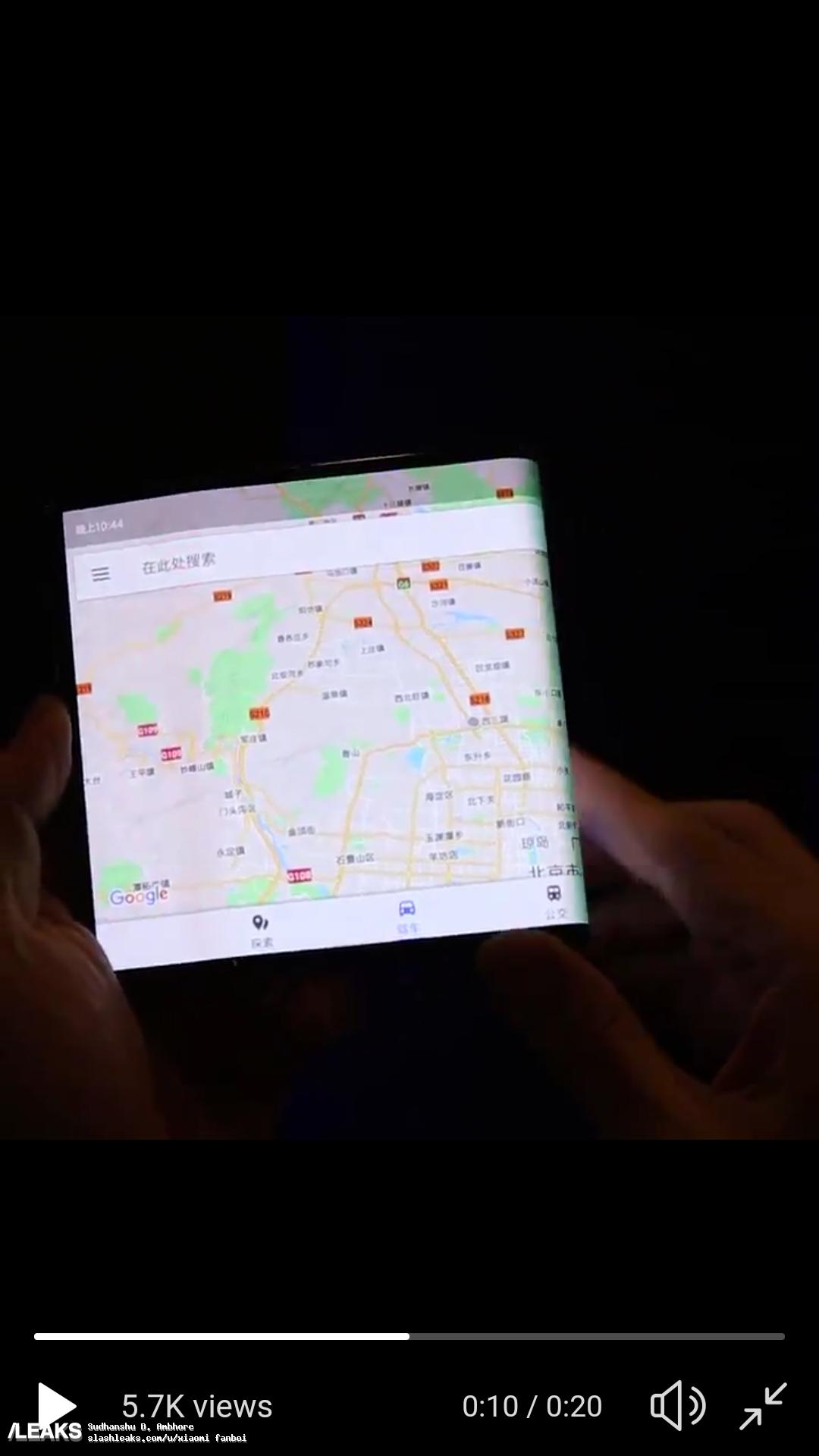 img Xiaomi's misterioso smartphone hands-on dobrável vídeo foi revelado