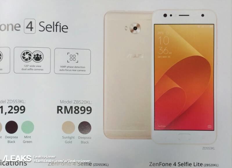 img Asus Zenfone 4 Selfie Lite seemingly in the work