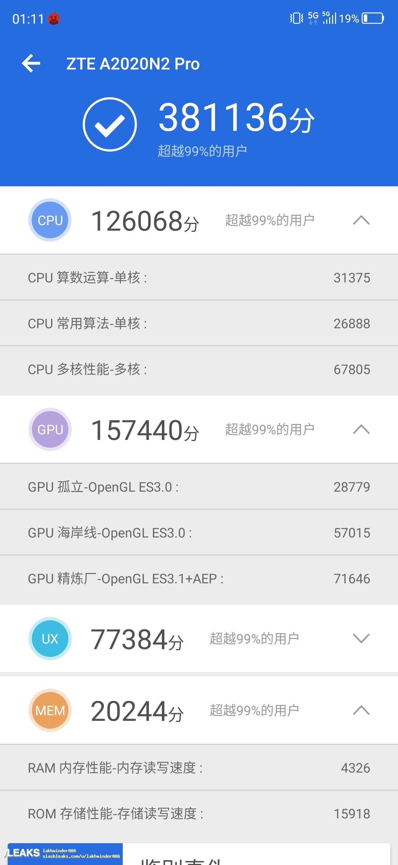 img ZTE Axon 10 Pro 5G tops AnTuTu