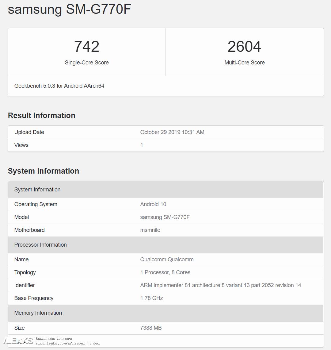 Galaxy S10 「Lite」投入との噂。スペックが流出。